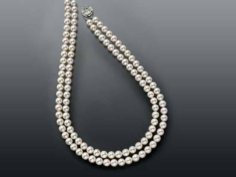 pearls set product original graded detail cart pearl string double necklace
