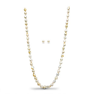 Baroque South Sea  Pearls Necklace Set