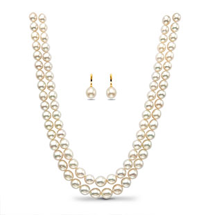 White South Sea Pearls Necklace Set