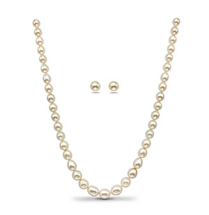 White South Sea Pearls Grading Necklace Set