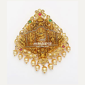 Designer Gold Nakshi Locket