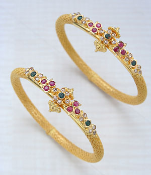 Colorful Gold Bangles