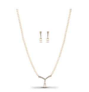Morden Pearls Necklace Set