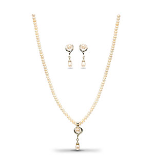 Gorgeous Pearls Necklace Set
