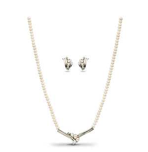 Glittering Pearls Necklace Set
