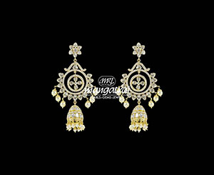 Sparkling Uncut Diamond Earring