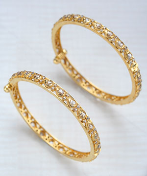 lovely Uncut Diamond Bangles