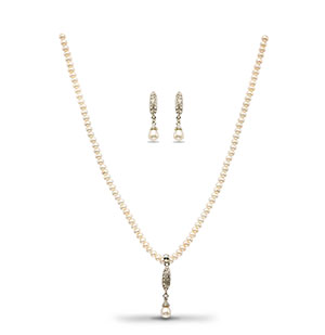Graceful Pearls Necklace Set