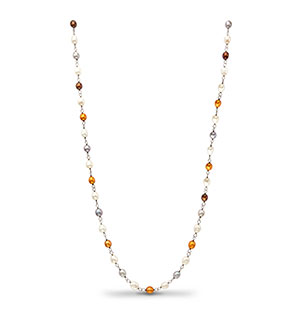 Multi Color Drop Pearls Necklace