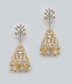 Everyday Diamond Jhumka