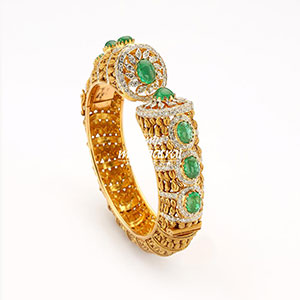 Emerald with  Diamond Bracelet