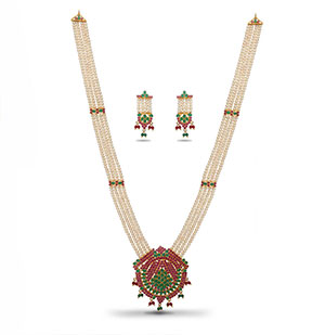 Beautiful Rani Haar Necklace Set