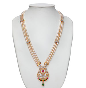 Exquisite Rani  Haar Pearls Necklace Set