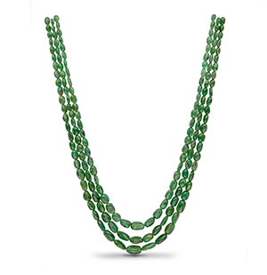 Real Emerald Beads Necklace