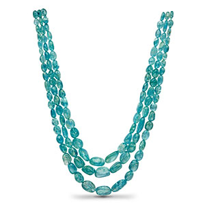 Real Aquamarine Beads Necklace