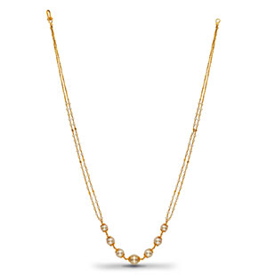 Classic Gold with Pearls Necklace
